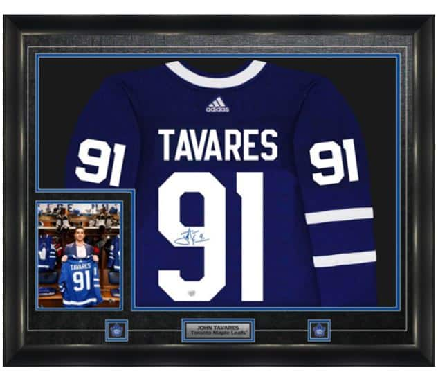 huge selection of 9ff27 a4fbf John Tavares Signed Jersey Framed Pro Adidas Toronto Maple Leafs Home Blue  - 8
